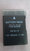 Wholesale 2PCS Battery for Nikon ENEL14 EN EL14 D3100 D5100 D3200 P7000 P7100 Digital camera MH charger for battery EN EL14 MH24