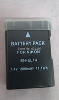 Wholesale 2PCS Battery for Nikon ENEL14 EN EL14 D3100 D5100 D3200 P7000 P7100 Digital camera MH charger for battery EN EL14 MH24