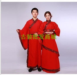 Han Chinese clothing costume garment suit black and red double- flexing ancient wedding dress suit