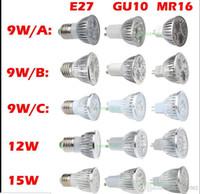 Wholesale 10x Hot Sale w W W Bulb Lights GU10 E27 E26 E14 MR16 Socket Led Lamp power led spotlights Warm Pure Cool white V V LED Light