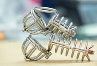 Steel Penis Rings Stainless steel jailbird chastity Steel Cock Cage Male Anti Masturbation Gear Chastity Devices the curve chastity cbt chastity