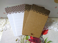 Wholesale Wholesale10set New Lace Dots DIY Unique Cards bookmarks paper Message cards