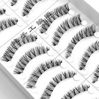 Wholesale K01 Taiwan handmade paragraph pairs of false eyelashes popular models fitted models of Japanese natural eyelashes