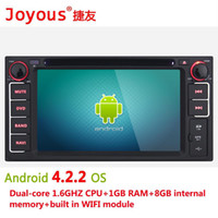 Wholesale 6 quot DIN Android Car DVD Player for Toyotaecho with GPS Navigation Radio BT USB AUX G WIFI GHz CPU G RAM