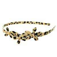Wholesale GUST Brand Women Girl Elegant Acrylic Animal pattern leopard print Crystal Small Flower Accessories Hair Jewelry Headbands H122