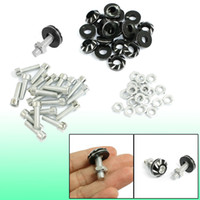 Wholesale 20 Car Auto License Plate Frame Bolt Screws Silver Tone Black