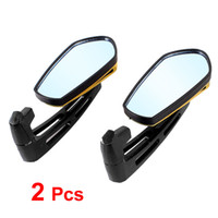 Wholesale 2 Gold Tone Adjustable Blind Spot Rearview Mirror for Motorbike Motorcycle