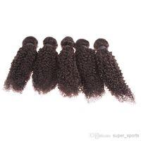 Wholesale Mix length braiding human hair extensions peruvian deep wave hair kinky curly bulk human hair braiding extensions