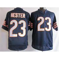 Football Men Short #23 Devin Hester Navy Blue Game Football Jerseys 2014 Hot Selling Brand Embroidery American Football Uniform Kits High Quality Cheap Jerseys