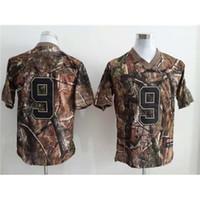 Wholesale Drew brees Real Tree Camo American Football Jerseys Size Mens Jerseys Name Number Sewn On Cheap Football Uniform Kits Sports Shirts