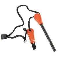 Orange ferrocerium - 10 Ferrocerium Flint Stone Fire Starter Lighter Magnesium Survival Tool kit