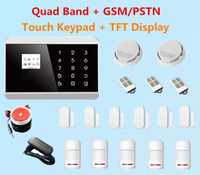 Wholesale Hot Selling Wireless Touch Keypad LCD TFT Display GSM PSTN SMS Home Security Voice Burglar Android Fire Alarm Sensor A626