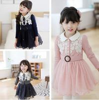 Winter korean children clothing - Korean Winter Girl Princess Dress Gauze Pure Cotton Children Fashion Dresses Thicken Mirco Velvet Colour Age Kids Clothes WD307