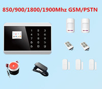 Wholesale 99 Wireless Zone GSM PSTN SMS Home Security Alarm Touch Keypad LCD Display Screen Burglar House Android Alarm A624