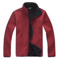 Wholesale Professional windstopper fleece jacket men polartec camping climbing hiking jackets ZR0011