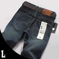 Wholesale Big Size Men s Jean Quality Denim Male Jean Pants Large Plug Size Trousers For Man Straight Blue Jeans XXXL Size J0546