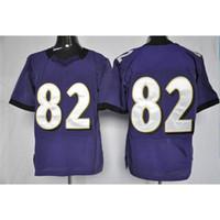 Football Men Short Top Quality #82 Torrey Smith Purple Mens Elite American Football Jerseys Cheap Football Jerseys Brand Sports Shirts Name Number Sewn On