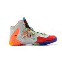 Basketball Flat Men Best Basketball Shoes Fashion Sports Shoes Lebron 11 XI What the Lebron Basketball Shoes Sneakers Elite Playoffs Sports Shoes Size 40-46