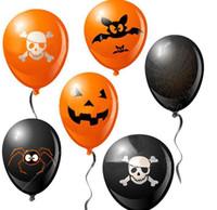 halloween cobweb - 200pcs Halloween Pumpkin Spider Cobweb Bat Balloon Children Hallowmas Gifts Party Pub Adornment cm Diameter wq004