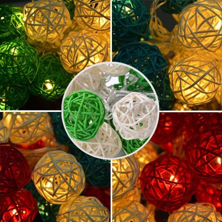 Venta por mayor 20 bola farolillos cadena fiesta Patio Navidad ...