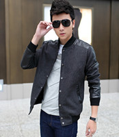 Wholesale 2015 new jacket men leather jacket collar men s leather motorcycle winter men leather jacket