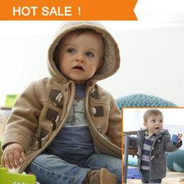 Wholesale 2015 Winter Fashion Horn Button Child Thickening Outerwear Overcoat Male Child Outerwear Boy Jacket Retail