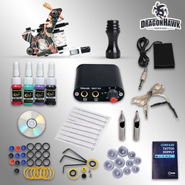 Wholesale Complete Tattoo Kit Machine Guns Inks Needles Tattoo Power Supply D1025