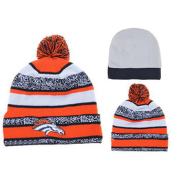Wholesale Cheap Broncos Beanies Brand Football Beanie Caps High Quality Winter Beanie Hats Hot Sale Pom Pom Beanies Knitted Caps Cool Toques Hats