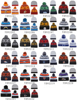 Wholesale Football Beanies All Team Knitted Beanie High Quality Skull Caps with Pompom Womens Men Christmas Sports Hats Cheap Winter Hat Cap