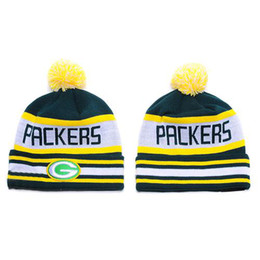 Wholesale Packers Beanies Causal Football Hats Top Quality Beanie Caps Knitted Hats for Men Women Hot Selling Skullcaps Fashion Beanies Sports Beanies