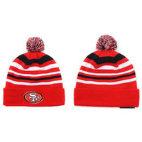 Wholesale Red Beanies of ers Football Skullcaps for Men Women Cheap Sports Beanie Hats Top Quality Autumn Knitted Caps Fashion Striped Team Beanies