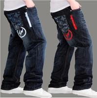 Wholesale 2014 hot tide spring casual denim harem pants baggy jeans sports men s loose trousers long light big size blue hip hop pants
