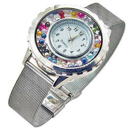 Wholesale Hot Sell floating charm locket Watch Stainless steel watch High quality Free gift pearl and birthday LSLB01