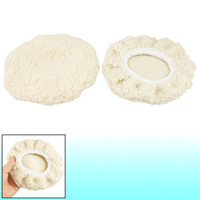Wholesale 2 Faux Wool quot Dia Car Detailing Buffing Polishing Pad Tool Off White