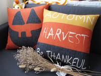 Wholesale Creative pumpkin Easter Day style home bedding sofa cushion cover pillow case min1pcs