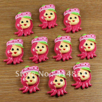 Resin TV & Movie Character Christmas Wholesale 50 pcs Strawberry Shortcake Resin Cabochon Flatbacks Flat Back Scrapbooking Hair Bows Center Crafts Embellishments
