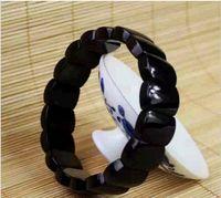 Cheap Wholesale crystal black tourmaline hand row apotropaic Energy Bracelet Men fashion jewelry wholesale