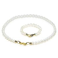 Wholesale SNH Women s Pearl quot Necklace inch Bracelet Set White Fashion
