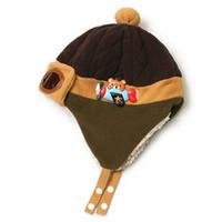 Wholesale cotton Baby pilot aviator hat toddler boy girl child wool warm bomber hat ear Peas winter warm