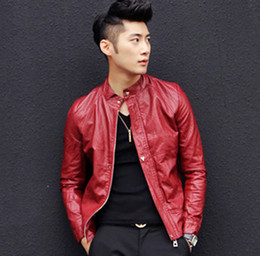 Wholesale Men s brand new fall influx of men cultivating small leather motorcycle Korean young men autumn jacket collar