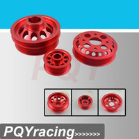 Wholesale J2 RACING STORE LIGHT WEIGHT CRANK PULLEY FOR NISSAN SKYLINE Z33 Z Fairlady GT V35 RED