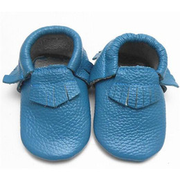 Wholesale New Style Baby Soft Genuine Leather Moccasins Soft Moccs Baby Shoes High Quality Baby First Walkers Tassels Kids Cow Sneakers m