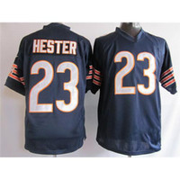 Football Men Short #23 Devin Hester Navy Blue Game Football Jerseys 2014 Hot Selling Brand Embroidery American Football Uniform Kits High Quality Cheap Jerseys