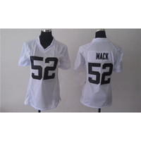 Wholesale Khalil Mack American Football Jerseys White Womens Game Football Jerseys Cheap Football Uniforms Name Number Stiched Mix Order All Teams