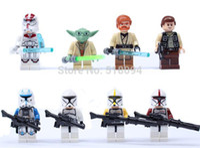 Wholesale Star Wars Yoda Han Solo Obi Wan Kenobi Clone Trooper Building Blocks Minifigure DIY Bricks Building Blocks Toys set ANBB051