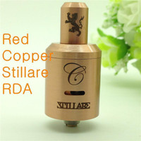Replaceable Metal Stillare v2 red copper stillare RDA RBA 1:1 clone Rebuildable Dripping Stillare V2 Atomizer 22mm for 18650 mechanical mods ego Electronic Cigarette
