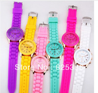 Wholesale Hot sale New Fashion Designer Ladies sports brand silicone watch jelly watch colors quartz watch for women men