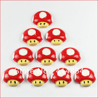 Wholesale Super Mario Red Mushroom Resin Flatbacks Flat Back Scrapbooking Hair Bow Center Crafts Making Embellishment DIY