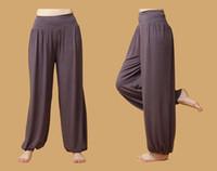 Wholesale High quality Women yoga pants Dancing Trouses Loose Boho Wide Pants sportwear Tai Chi Pants many colors YB003