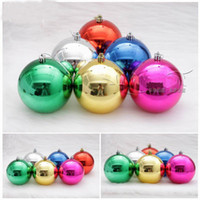 Wholesale 8cm Primitive Christmas decoration plastic ball ornament DIY TREE